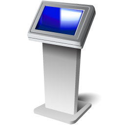Touch screen kiosk icon