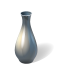 Vase full icon