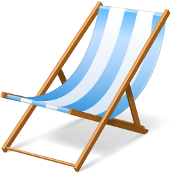 Beach chair icon vacation iconset visualpharm - Chaise en plexiglas transparent ...
