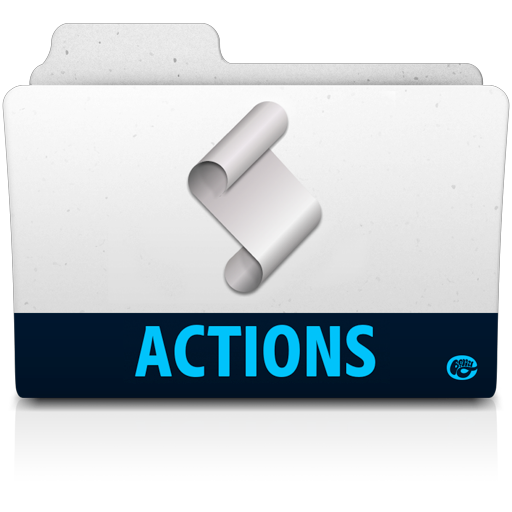 Action-folder icon