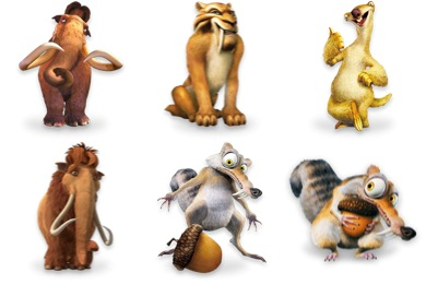 Ice Age Character Icons