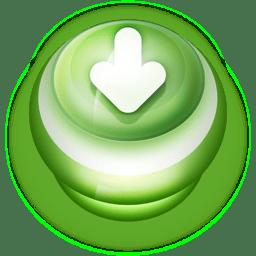 Button Green Arrow Down icon