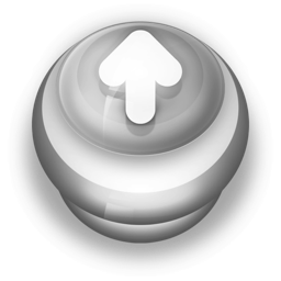 Button Grey Arrow Up icon