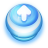 Button Blue Arrow Up icon
