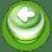 Button Green Arrow Left icon