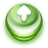 Button Green Arrow Up icon