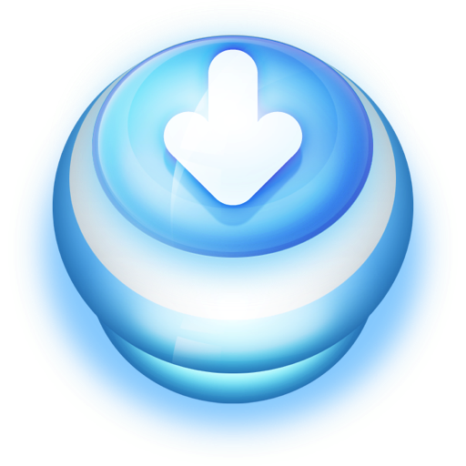 Button Blue Arrow Down icon