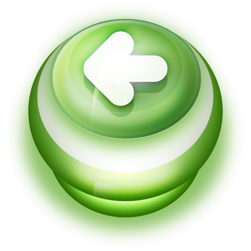 Button Green Arrow Left icon