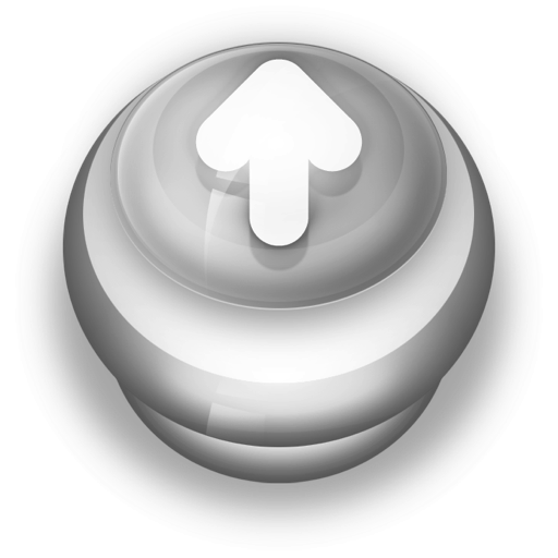 Button-Grey-Arrow-Up icon