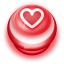 Button Red Love Heart icon