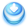Button-Blue-Arrow-Down icon