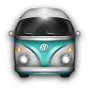 VW Bulli Blue White icon