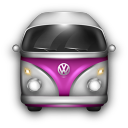 VW-Bulli-Purple-White icon