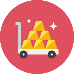Gold Cart icon