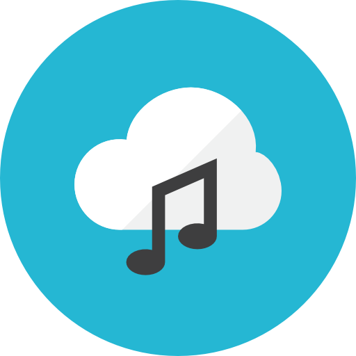cloud music icon kameleon iconset webalys