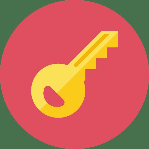 Key Icon on Diamond Transparent Icon