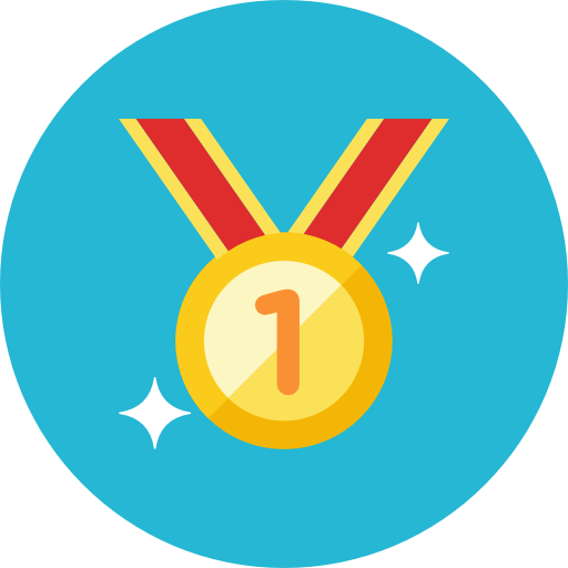 Gold medal icon png