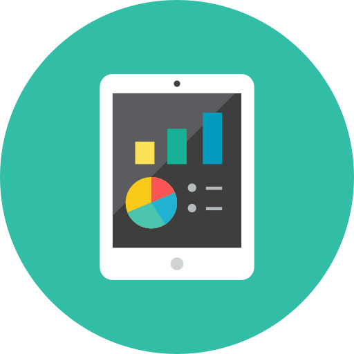 Tablet-Chart icon