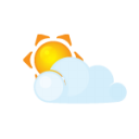 sun lightcloud icon