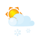 Sun-lightcloud-sleet icon