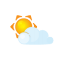 Sun littlecloud icon