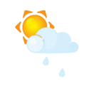 Sun littlecloud rain icon