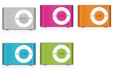 iPod Shuffle Colors Icons