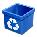 Trash blue empty icon