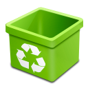 Trash green empty icon