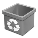 Trash grey empty icon