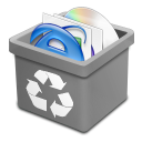 Trash grey full icon