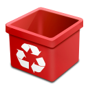 Trash red empty icon