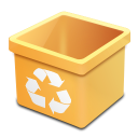 trash yellow empty icon
