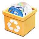Trash yellow full icon