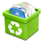 Trash-green-full icon