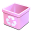 Trash-pink-empty icon