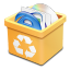 Trash-yellow-full icon