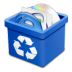 Trash-blue-full icon