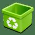 Trash-green-empty icon