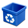 Trash-blue-empty icon