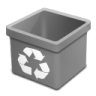 Trash-grey-empty icon