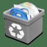 Trash-grey-full icon