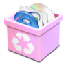 Trash-pink-full icon