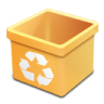 Trash-yellow-empty icon