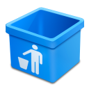 Aqua trash empty icon