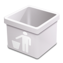 milk trash empty icon
