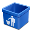 Blue trash empty icon