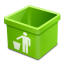green trash empty icon