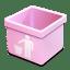 Pink-trash-empty icon