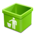 Green-trash-empty icon